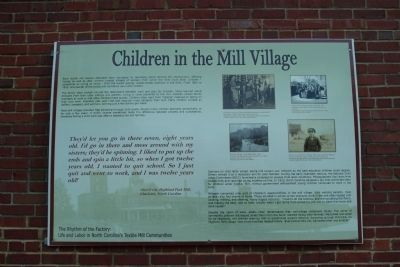 Children in the Mill Village Marker image. Click for full size.