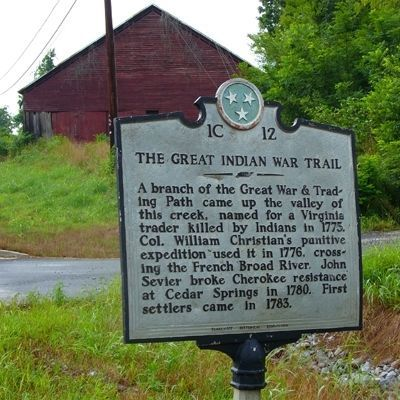 The Great Indian War Trail marker image. Click for full size.