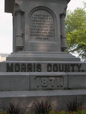 Front of Morris County Civil War Monument image. Click for full size.