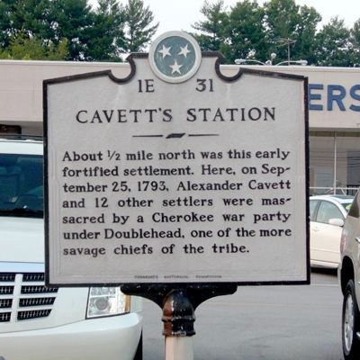 Cavett's Station marker image. Click for full size.