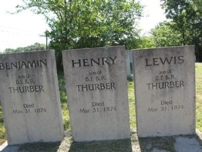 Thurber family gravemarkers image. Click for full size.