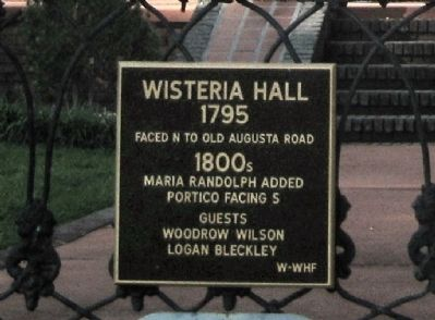 Wisteria Hall Marker image. Click for full size.