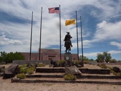 Oñate Statue and Oñate Center image. Click for full size.