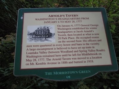 Arnold's Tavern Marker image. Click for full size.
