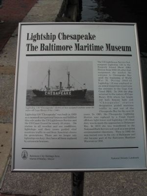 Lightship Chesapeake Marker image. Click for full size.