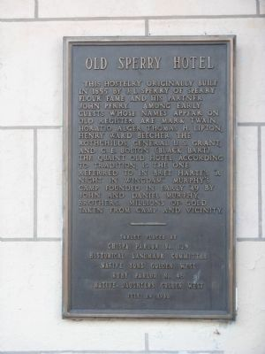 Old Sperry Hotel Marker image. Click for full size.