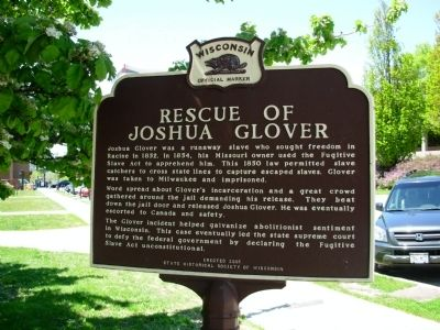 Rescue of Joshua Glover Marker image. Click for full size.