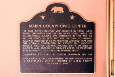 Marin County Civic Center Marker image. Click for full size.