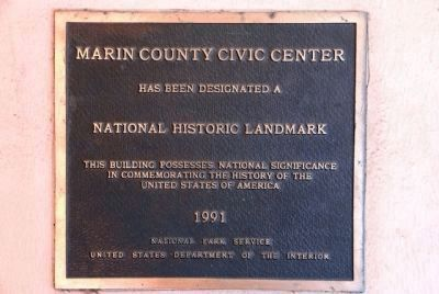Marin County Civic Center National Historic Landmark image. Click for full size.