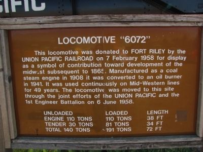 "Locomotive ""6072"" Marker image. Click for full size."