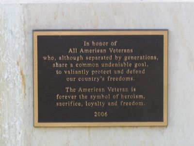 The American Veteran Marker image. Click for full size.
