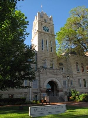 Riley County Courthouse Marker image. Click for full size.