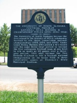 The University of North Alabama Marker image. Click for full size.