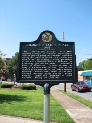 Colonel Pickett Place Marker image. Click for full size.