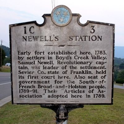 Newell's Station Marker image. Click for full size.