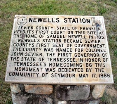 Newell's Station Stone image. Click for full size.