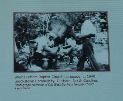 West Durham Baptist Church barbeque, c. 1940. image. Click for full size.