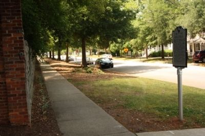 South Carolina Memorial Gardens Marker, looking west along Calhoun Street image. Click for full size.