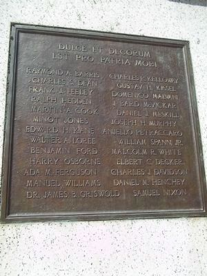 Morristown World War I Memorial Marker (Rear View) image. Click for full size.