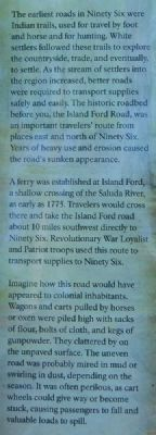 Current Island Ford Road Marker image. Click for full size.