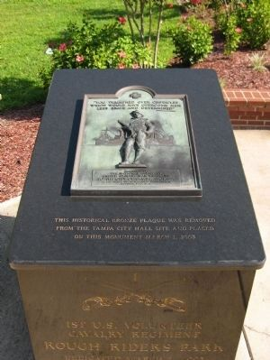 Rough Riders Marker (Top face) image. Click for full size.