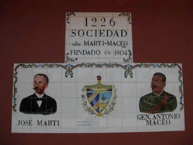Sociedad La Union Marti~Maceo: Painted Tilework image. Click for full size.