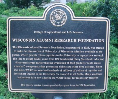 Wisconsin Alumni Research Foundation Marker image. Click for full size.