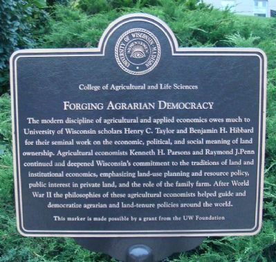 Forging Agrarian Democracy Marker image. Click for full size.
