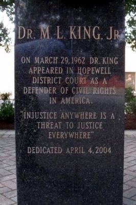 Dr. M. L. King, Jr. Marker image. Click for full size.