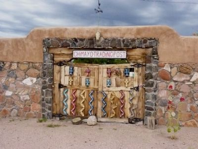 Chimayo Trading Post Gate In South Wall of the Trujillo Family Compound image. Click for full size.