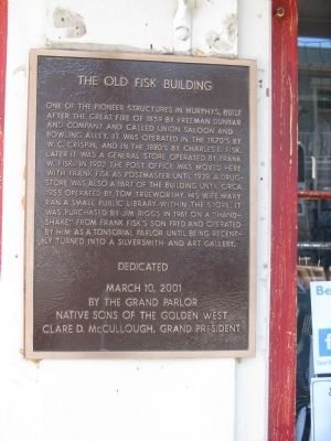 The Old Fisk Building Marker image. Click for full size.