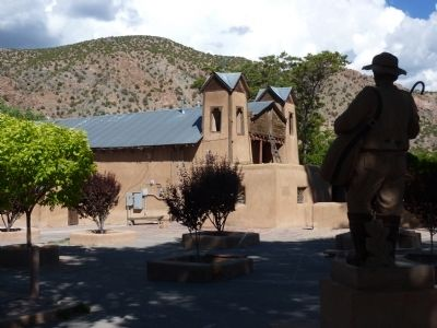 Santuario de Chimayo From Behind the Pilgrim's Statue image. Click for full size.
