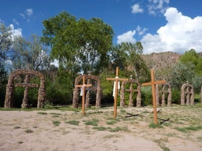 Santuario de Chimayo Crosses Along the Lower Irrigation Canal image. Click for full size.