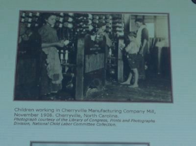 Children working in Cherryville Manufacturing Company image. Click for full size.