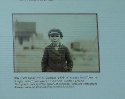 Boy from Loray Mill in October 1908 image. Click for full size.