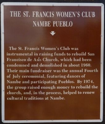 The St. Francis Women's Club Marker image. Click for full size.