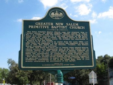 Greater New Salem Primitive Baptist Church Marker image. Click for full size.
