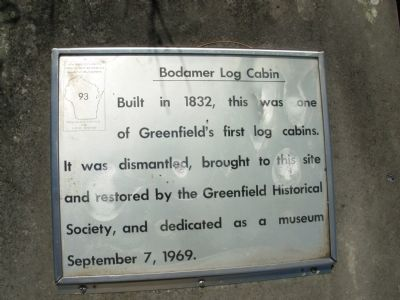 Bodamer Log Cabin Marker image. Click for full size.