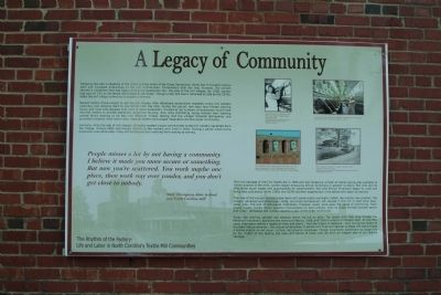 A Legacy of Community Marker image. Click for full size.