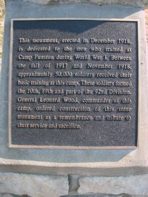 Funston Monument Marker image. Click for full size.