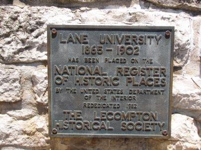 Lane University Marker image. Click for full size.