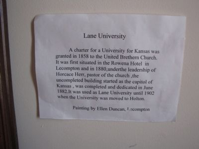 Lane University image. Click for full size.