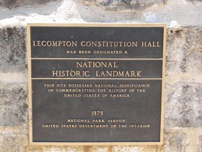 Lecompton Constitution Hall Marker image. Click for full size.