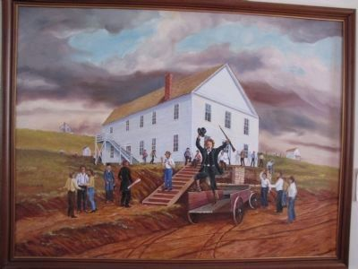 Lecompton Constitution Hall image. Click for full size.