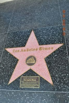 Nearby Award of Excellence Hollywood Star for the <i>Los Angeles Times</i> image. Click for full size.