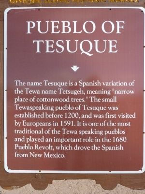 Pueblo of Tesuque Marker image. Click for full size.