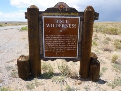 Bisti Wilderness Marker image. Click for full size.