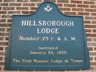 Hillsborough Lodge Marker image. Click for full size.
