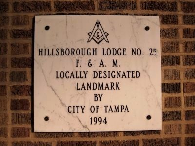 City of Tampa Local Landmark Plaque image. Click for full size.