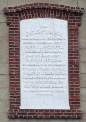 Confederate Obelisk-Chimney , west side image. Click for full size.
